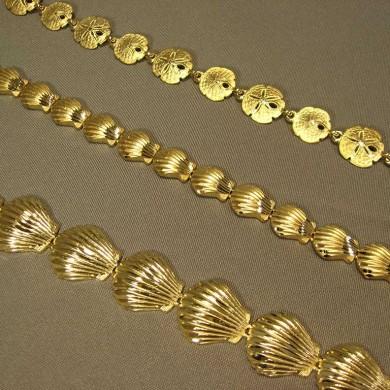 14k gold -shell - braceletts