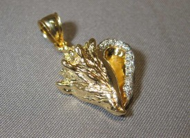 14k Gold Diamond Conch Shell