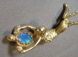 Gold Mermain and Gemstone Sea Turtle